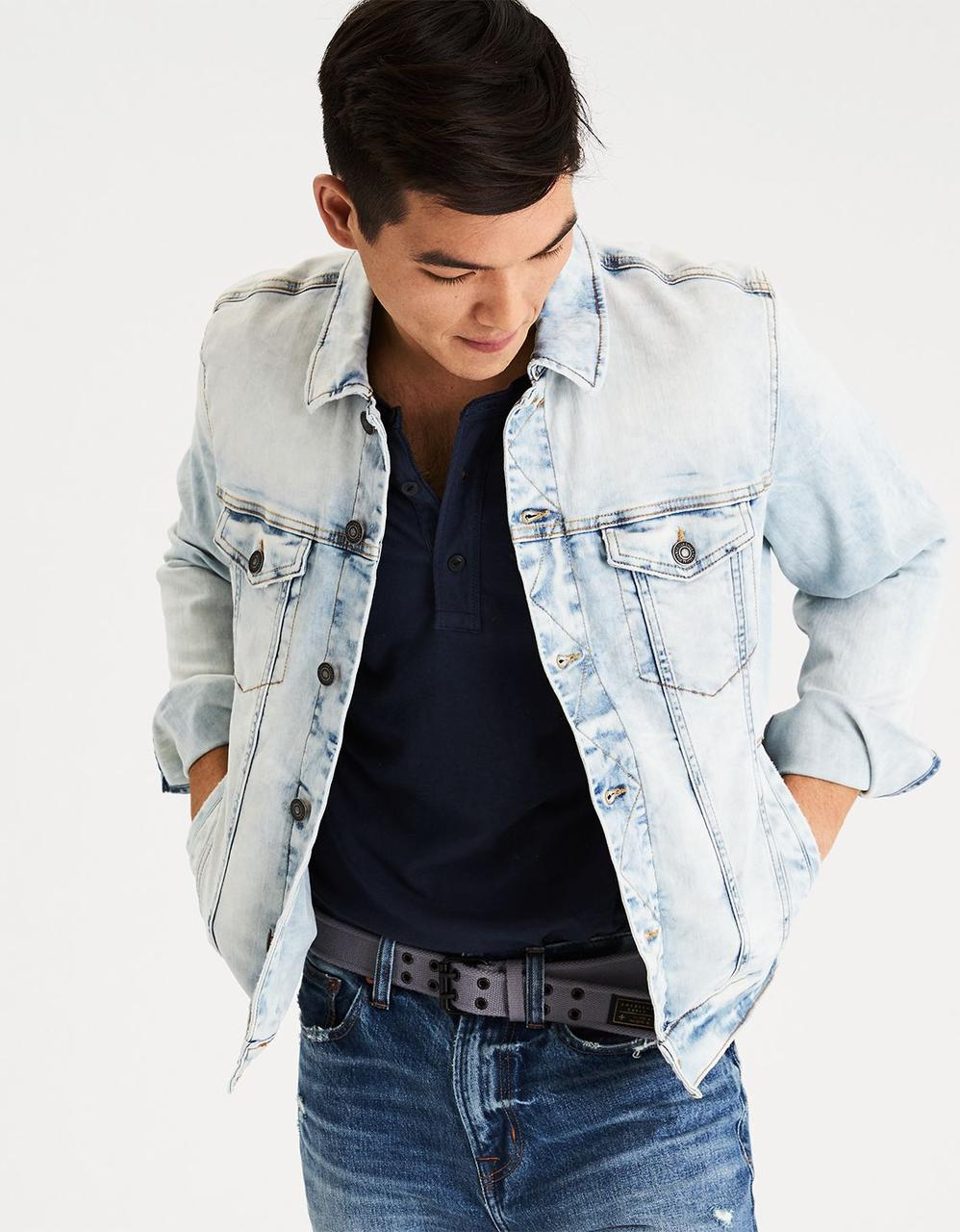 6c115a8091 AE Cloud Wash Denim Jacket