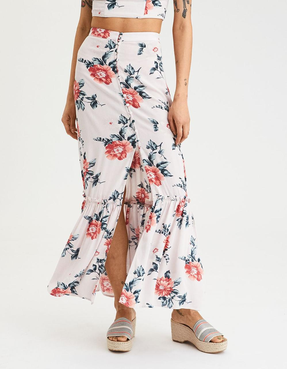 9d2e57c49a American Eagle Skirts, AE Button Down Maxi Skirt for Women at Aeo.in