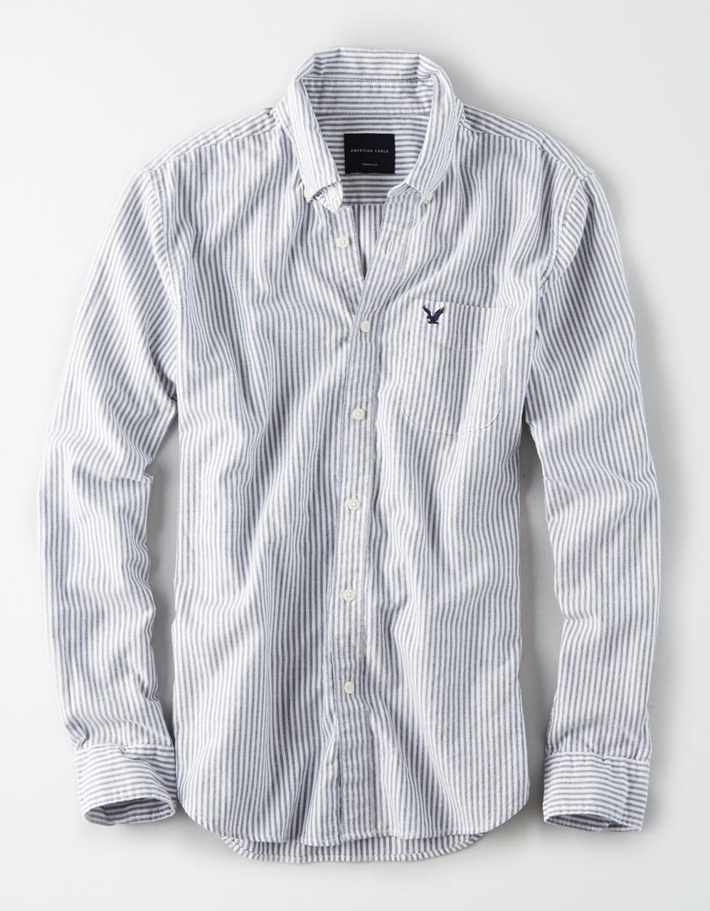 bfc95c86 American Eagle Shirts, AE STRIPED BUTTON-DOWN SHIRT for Men at Aeo.in