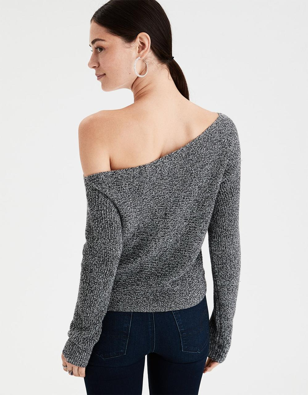 769cf71a034 AE OFF-THE-SHOULDER DOLMAN SWEATER