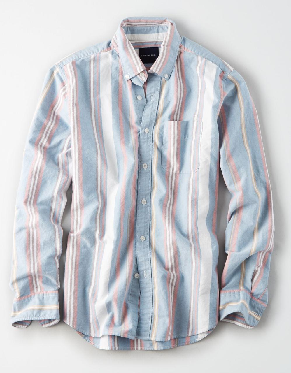 a21559c3 American Eagle Shirts, AE OXFORD STRIPE BUTTON-DOWN SHIRT for Men at ...