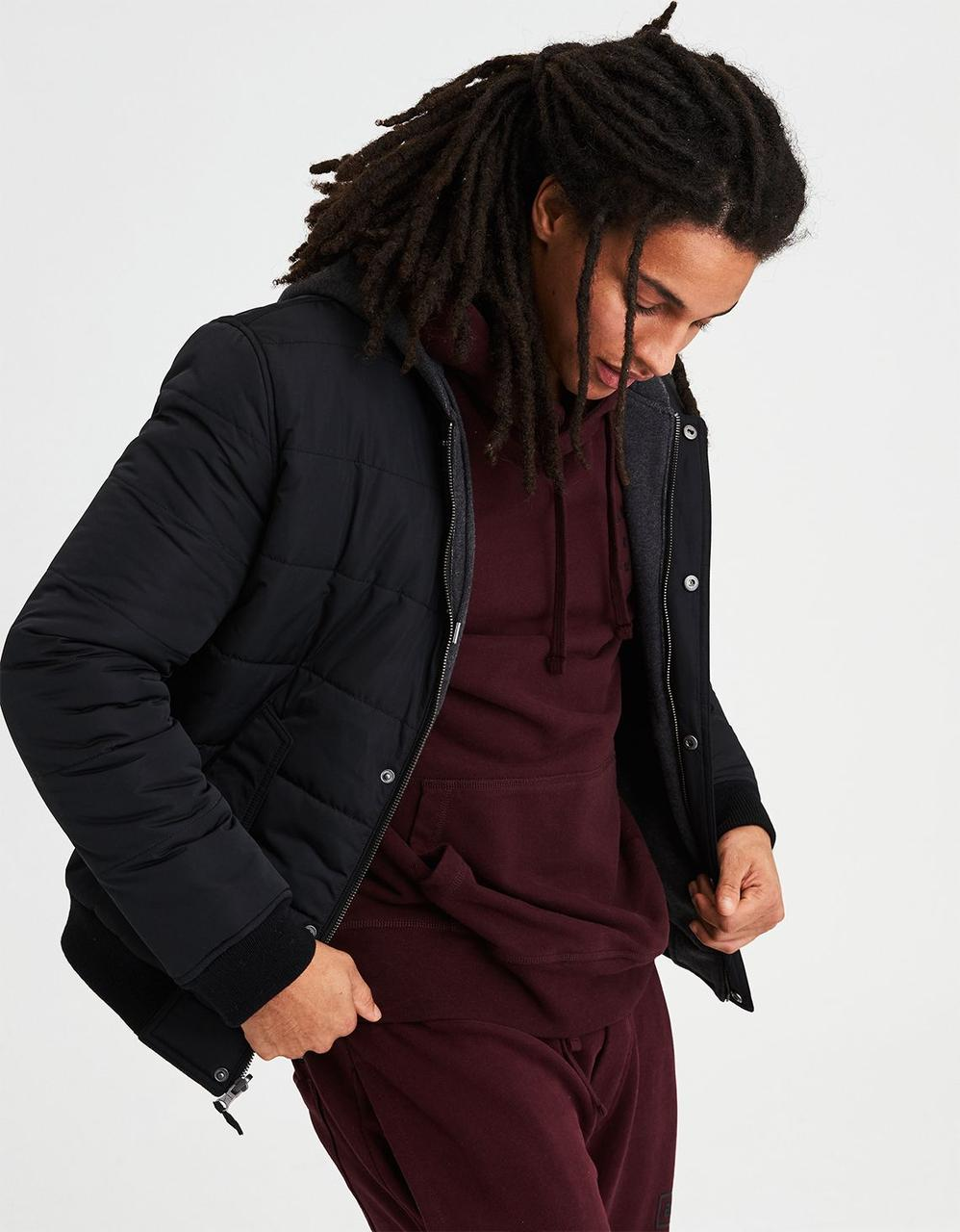b2ae6b4d0 American Eagle Jackets, AE REVERSIBLE HOODED BOMBER JACKET for Men ...