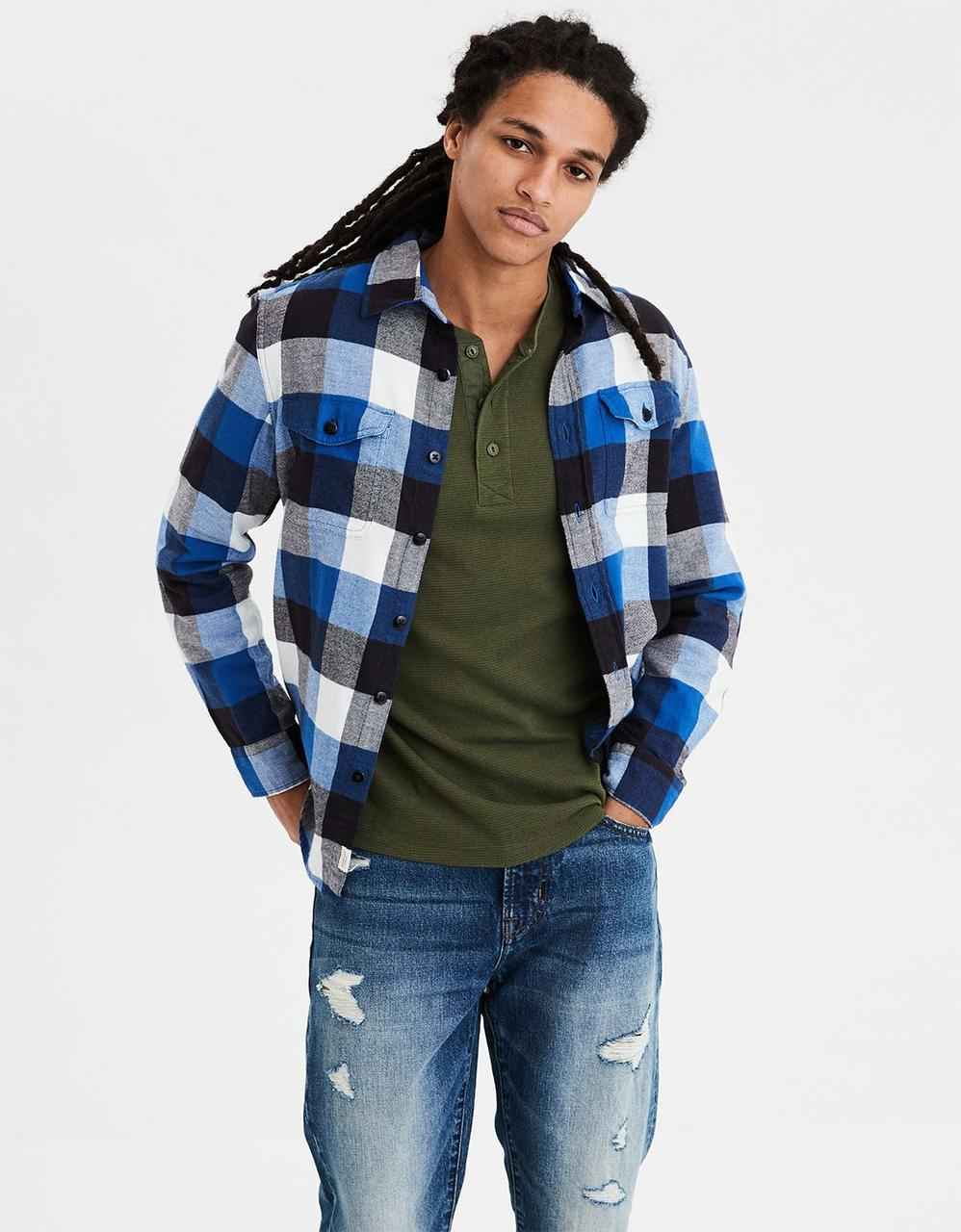 093eb407d90 Men · Shirts. AE SERIOUSLY SOFT FLANNEL