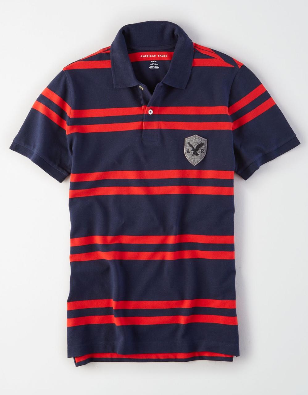 ac333cce7c American Eagle Polo T-Shirts, AE STRIPED RUGBY POLO for Men at Aeo.in