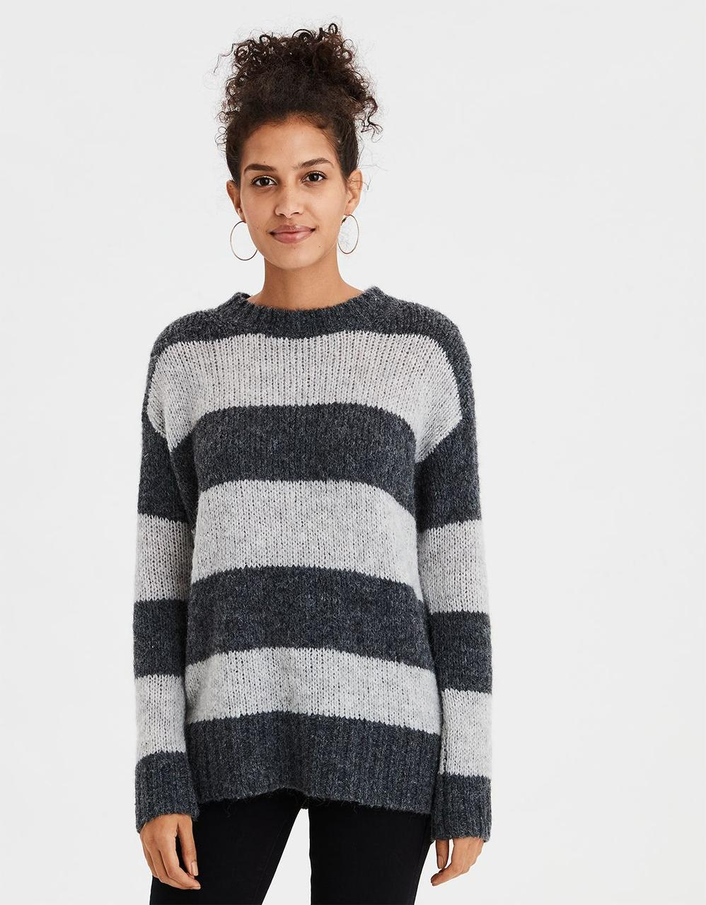 08574aa870fbe American Eagle Sweaters, AE RUGBY STRIPE PULLOVER SWEATER for Women ...