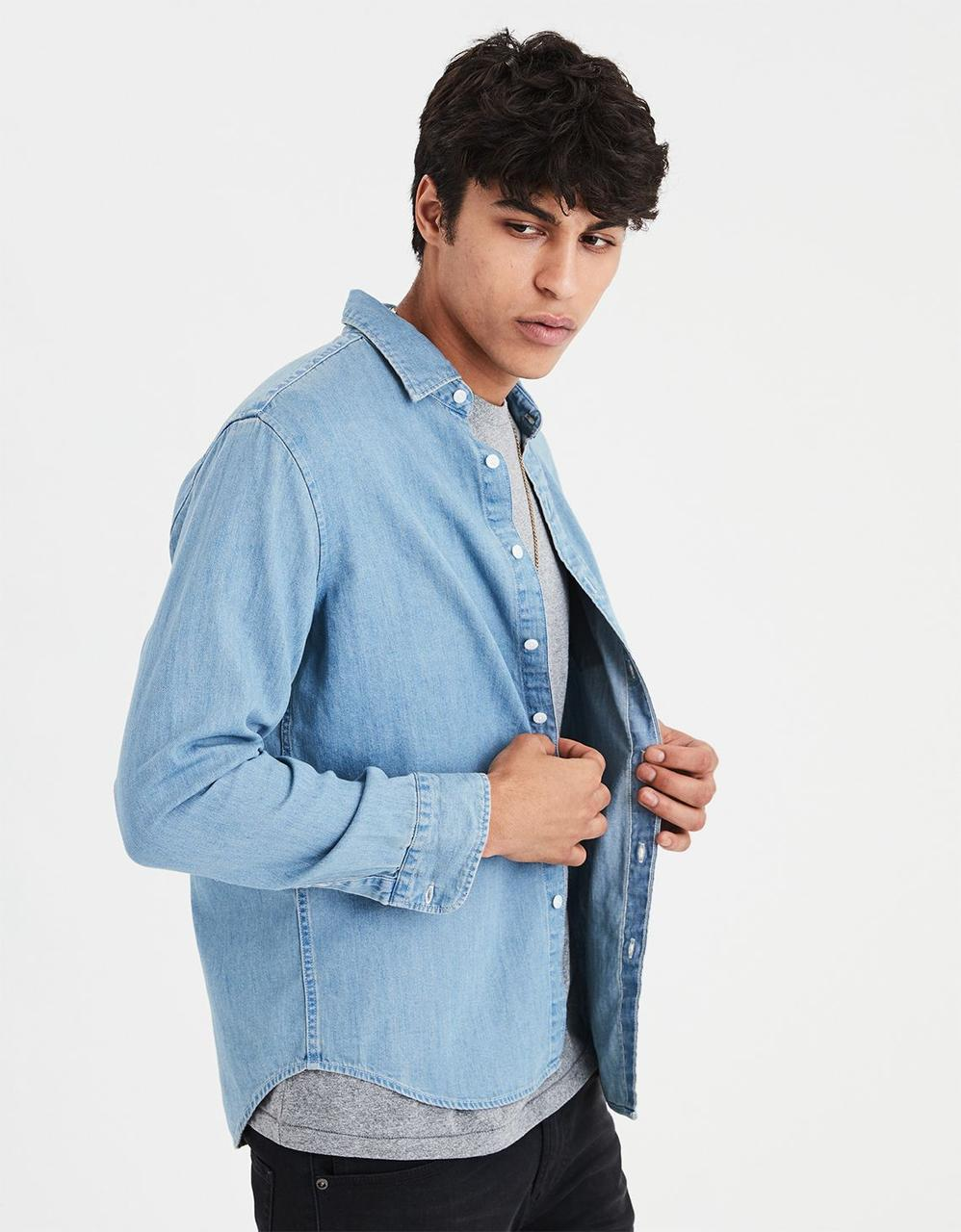a9f26dc0 American Eagle Shirts, AE DENIM BUTTON-DOWN SHIRT for Men at Aeo.in