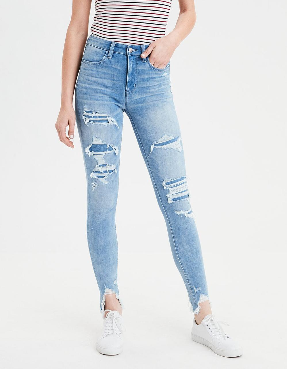 aa54729f American Eagle Jeans, AE 360 NE(X)T LEVEL SUPER HIGH-WAISTED JEGGING ...