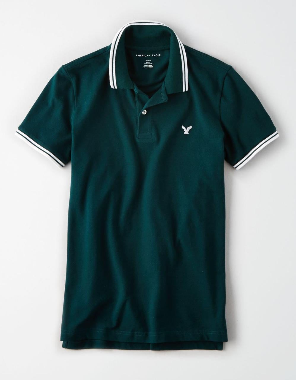 720ef47f American Eagle Polo T-Shirts, AE TIPPED STRETCH PIQUE LOGO POLO for ...