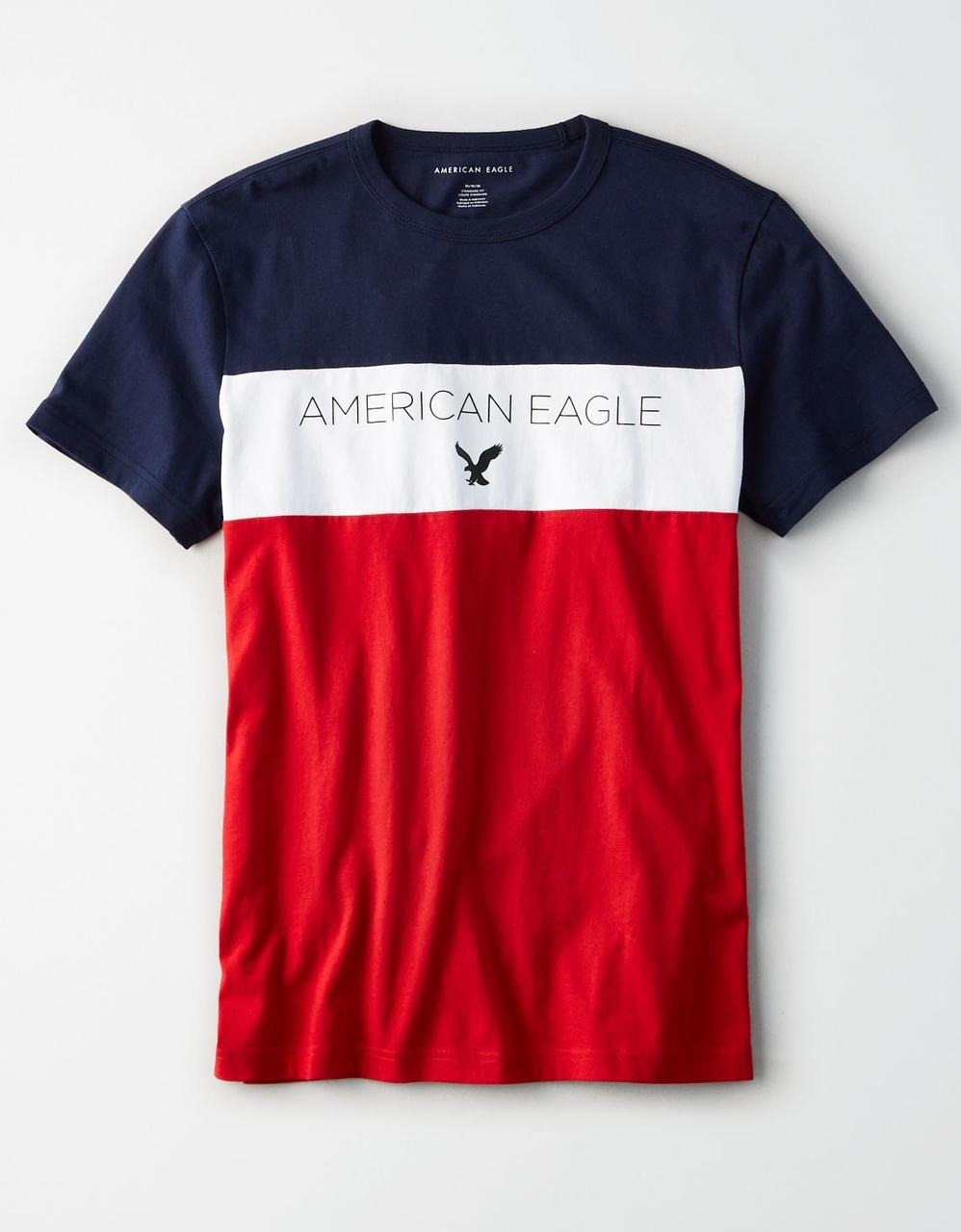 e0b22df8c6 American Eagle T-Shirts, AE COLORBLOCK GRAPHIC TEE for Men at Aeo.in