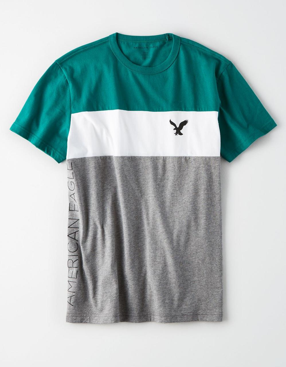 17d2e274 American Eagle T-Shirts, AE COLORBLOCK GRAPHIC TEE for Men at Aeo.in